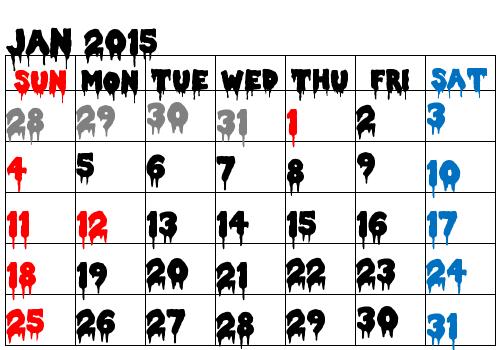 calendar horror