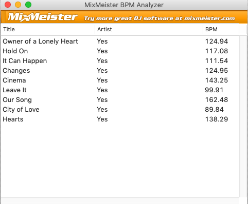 BPMを自動的に測定してiTunesにセットするBPM Analyzer | You